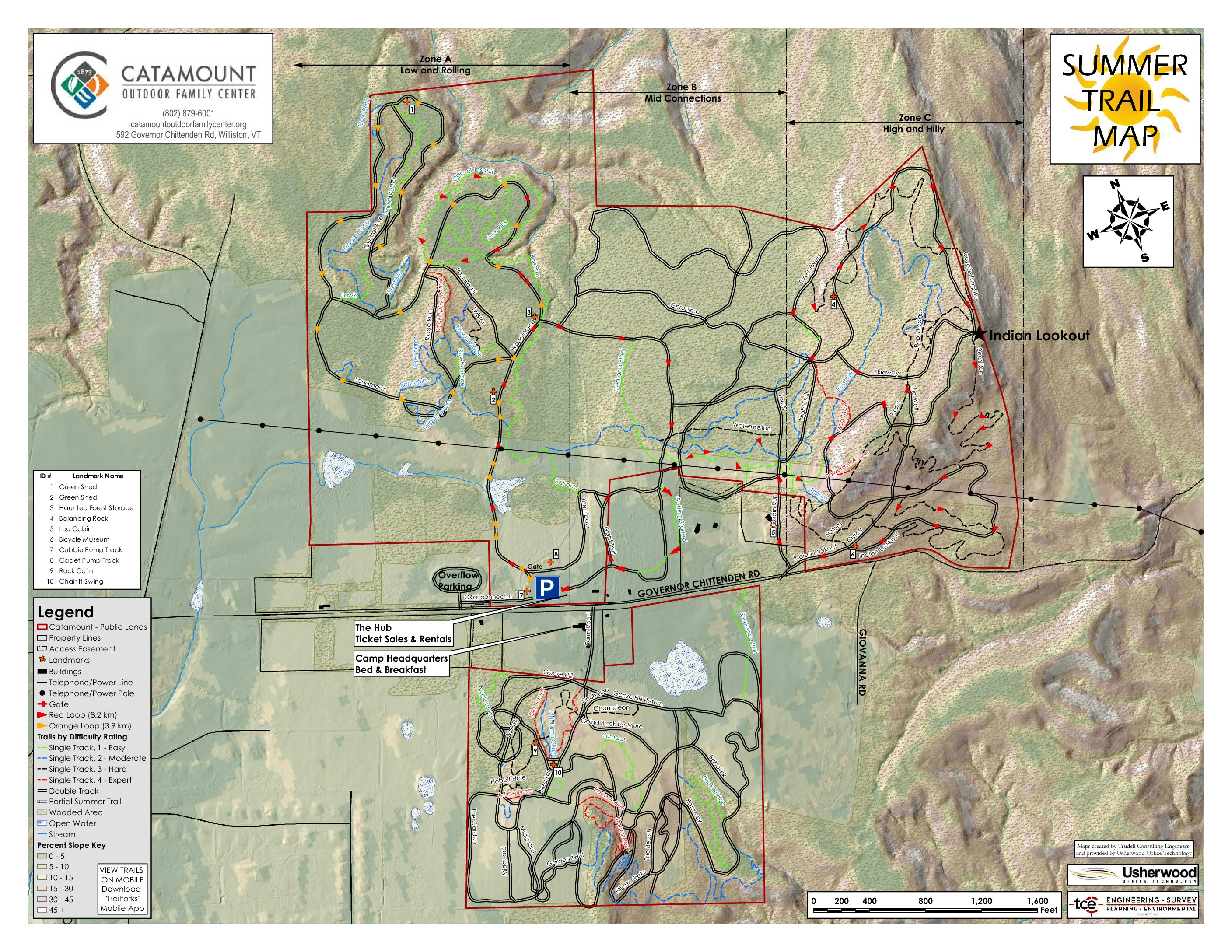 Mapping the Catamount Outdoor Family Center and Town Forest ... on